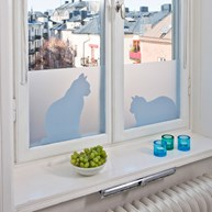 Vindusfilm - Cats in window