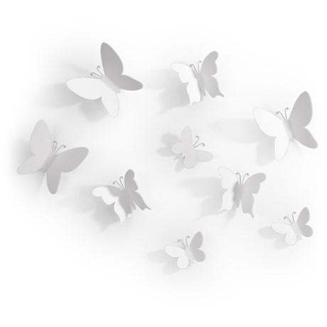 Veggdekor – Mariposa, Sommerfugler (9-pack)